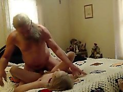 Grandma and Grandpa having sex on cam