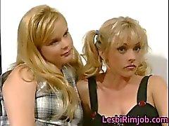 Super horny lesbian babes having
