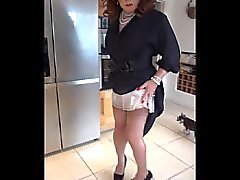 Governness dressed SIndy shows her slip