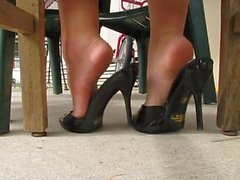 Behind my heels