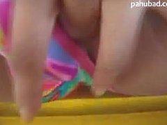 Pinay Balcony masturbation