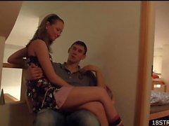Fascinating teen adores gentle sex