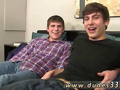 Hot naked gay college baseball sex Zaden and Trent get lubri