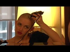 Sexy model shaves her own head bald