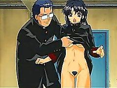 Hentai bisexuellas hetingar dildoing av varandras svultit pussies