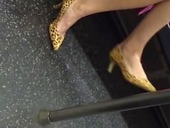 Sexy Mature Shoeplay In Classic Heels