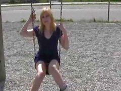 Playground antics with dirty blonde