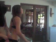 2 sluts dancing in lingerie panties