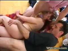 Teen Likes Her Present So She Fucks Daddy And His Mate