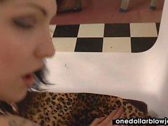 Amateur scene features Belle Claire sucking