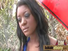 Busty Ebony Gets A Whole Load Of Cum 20