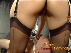 Delicious Asian minx makes this horny tied-up stallion very