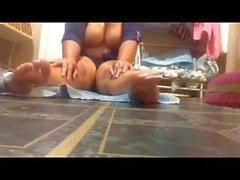 Latina bbw ass n toes oil play