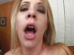 Lots of cum for dirty blonde