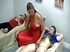 Carrie Moon and two lucky guys
