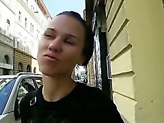 Eurobabe Denise Sky fucked with stranger