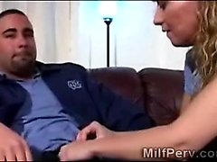 Young blonde wife is desperate to blow a big cock