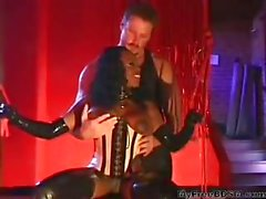 Jada Leather & Latex Anal Pounding