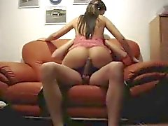homemade fucking on sofa