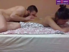WCV EuroAsian - Couple fucks on the bed