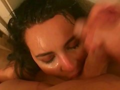 Daddy's Little Whore Nasty Sloppy Throatfuck Slapping Gagging Big Cumshot