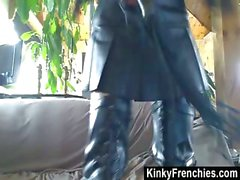 Kinky Bianca In Leather Outfit