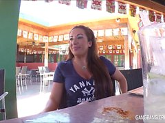 In this gangbang creampie video G19 takes 5 loads of cum in