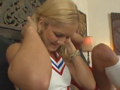 Cute Cheerleaders fingering and licking