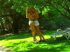 Teen naked lesbos kiss and lick twat outdoor