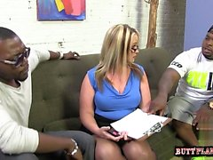 Hot girlfriend anal cum
