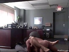 Secretary fucks boss on the floor