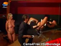 BDSM Hot Young Blonde Girl Bondage And Anal Fisting!