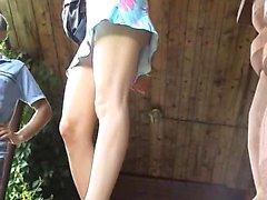 Naughty bombshell wants to turn you on with her amazing leg