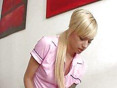 Hot Blonde Teen Emma Mae Sucks A...
