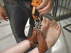 Upsidedown Flogging a Cute Japanese M