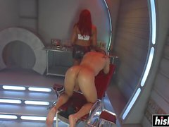Red haired Yasmin Lee fucked a dude