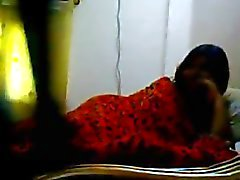 Desi College Girl Nude WIth Lover at bed