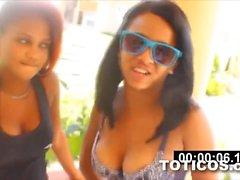 Ashlei & Azul black latinas from Dominican Republic Toticos