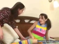 Russian Coed Dildoed by Stepsister