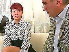 Könsbestämma lektion med kåt lärare