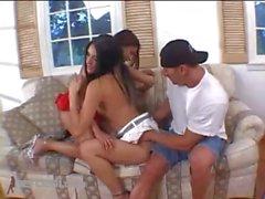 Horny Latinas Swapping Jizz