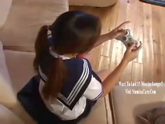Japanese SchoolGirl gets pounded by huge cock