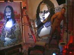 Brent Ray Fraser Penis Paints Da Vinci's Mona Lisa