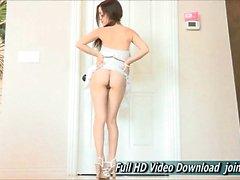 Noelani Porn Cute White Dress And Heels