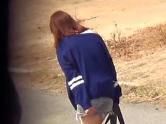 Japanese teenagers peeing