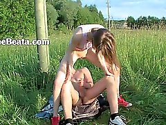 Brutal teenagers analhole outdoor sex