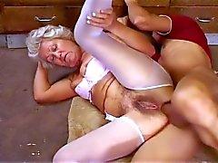 Granny Effie Hairy Ass Fuckin'