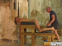 Mature deviant Sebastian Kane jerks off cock into submission