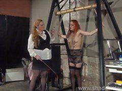 Lesbian play piercing punishment and extreme amateur bdsm