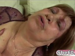 Fat mature throats huge dick in sloppy modes while on cam